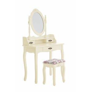 Schminktisch-Set Loire mit Spiegel von Home & Haus
