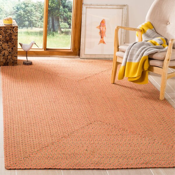 Woodlawn Hand Woven Beige/Orange Area Rug by Bay Isle Home