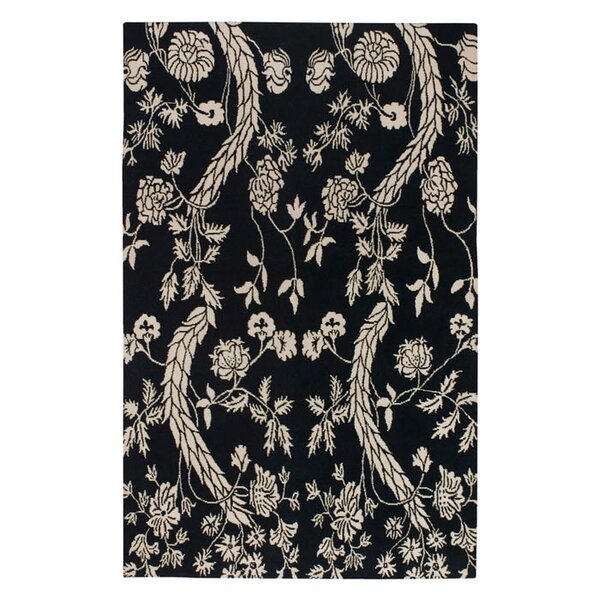 Haynes Black/Cream Area Rug by Bloomsbury Market