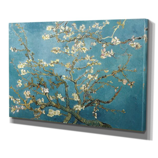 Almond Blossom by Vincent Van Gogh Print of Painting on Wrapped Canvas by Wexford Home