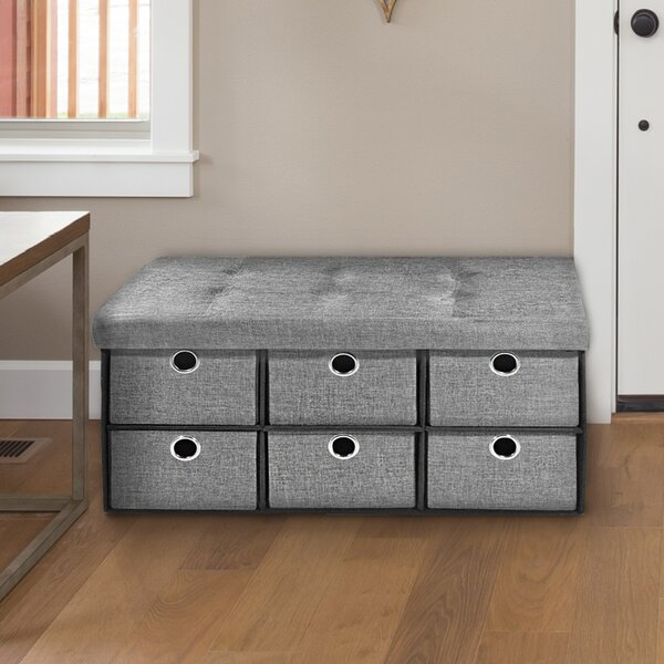 Collapsible Tufted Storage Ottoman By Rebrilliant