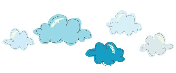 Cotton Candy Clouds Wall Decal by Pop & Lolli