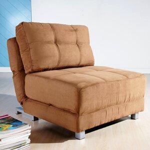Krystal Microfiber Convertible Chair by Zipcode Design
