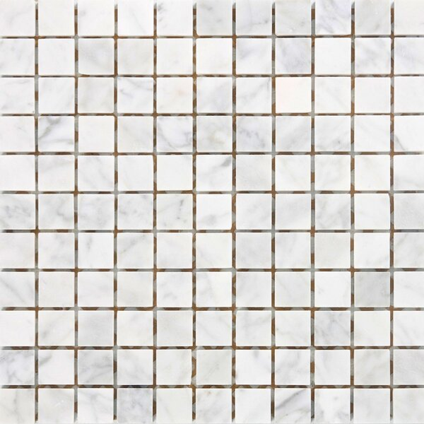 1 x 1 Marble Mosaic Tile in White by Epoch Architectural Surfaces