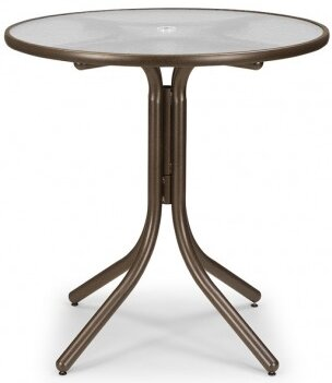 Obscure Acrylic 36 Round Balcony Height Dining Table by Telescope Casual