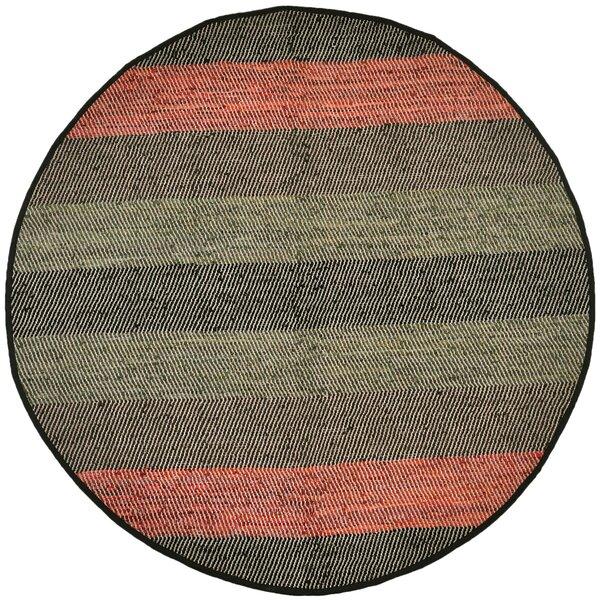 Sandford Flatweave Cotton Green/Gray/Orange Area Rug by World Menagerie