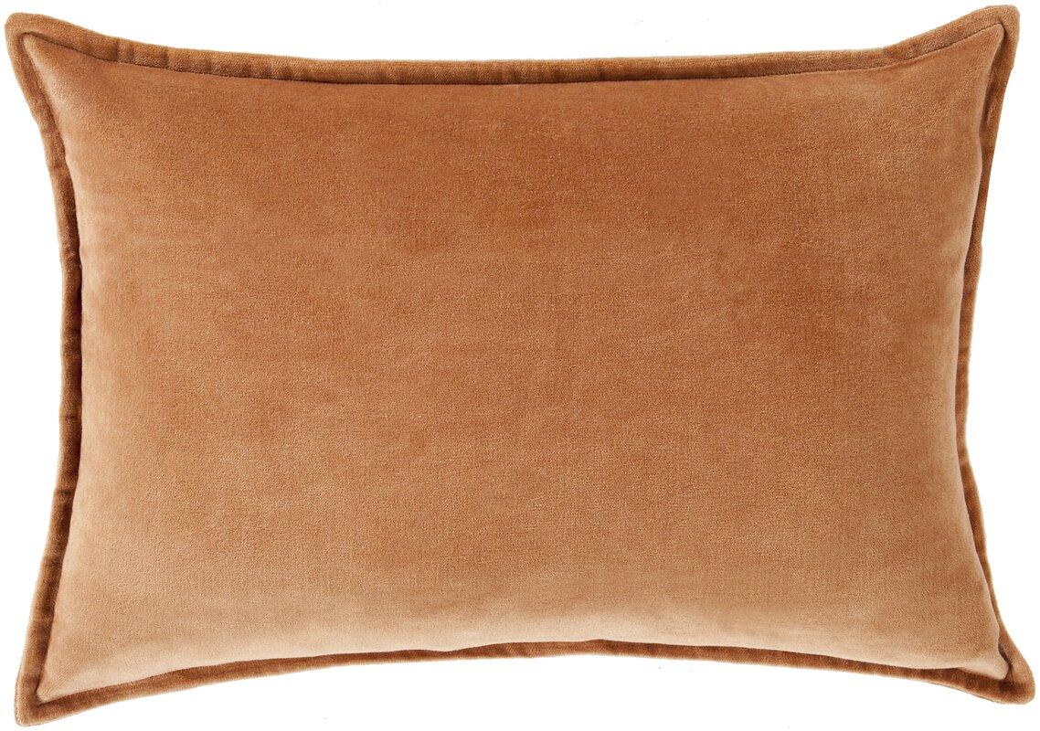 Trini Cotton Lumbar Pillow #orange #velvetpillow #pumpkinspice