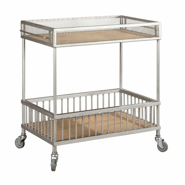 Poppy Trolley Bar Cart by 17 Stories