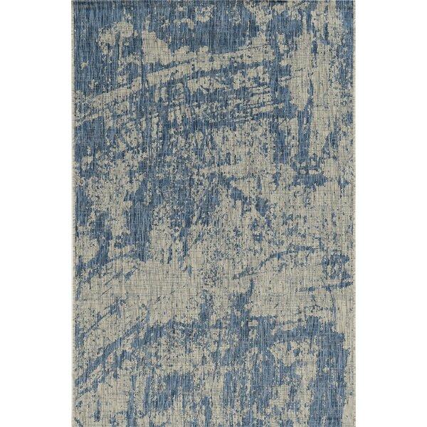 Harms Blue Indoor/Outdoor Area Rug by Bloomsbury Market