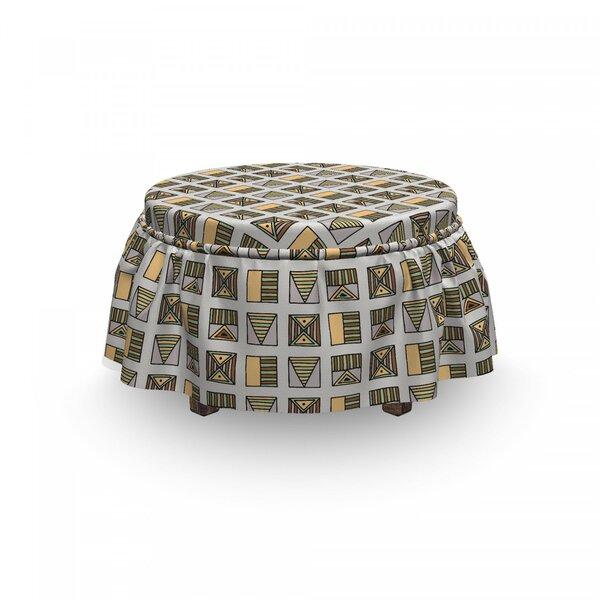 Sales Egyptian Boho Ottoman Slipcover (Set Of 2)