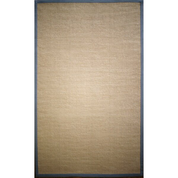 Natura Framed Border Tan Area Rug by nuLOOM