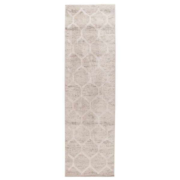 Archimbald Honeycomb Beige Area Rug by House of Hampton