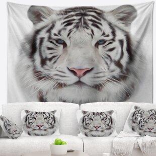 Animal White Bengal Tiger Tapestry