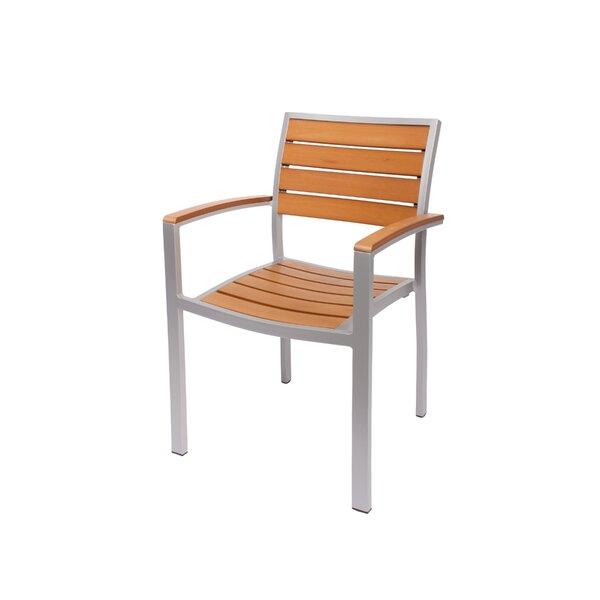 Largo Stacking Teak Patio Dining Chair by BFM Seating BFM Seating