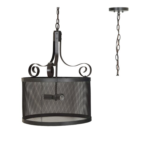 Norma 3 - Light Shaded Drum Chandelier By 17 Stories