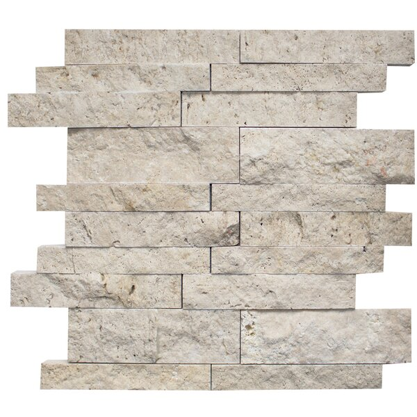 Random Sized Travertine Mosaic Tile in Ivory by Ephesus Stones