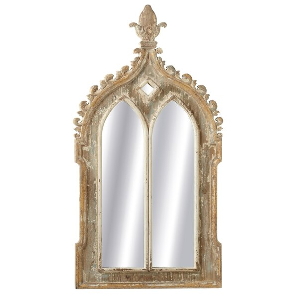 Welling Double Arch Accent Mirror with Carved Finial Top by Ophelia & Co.