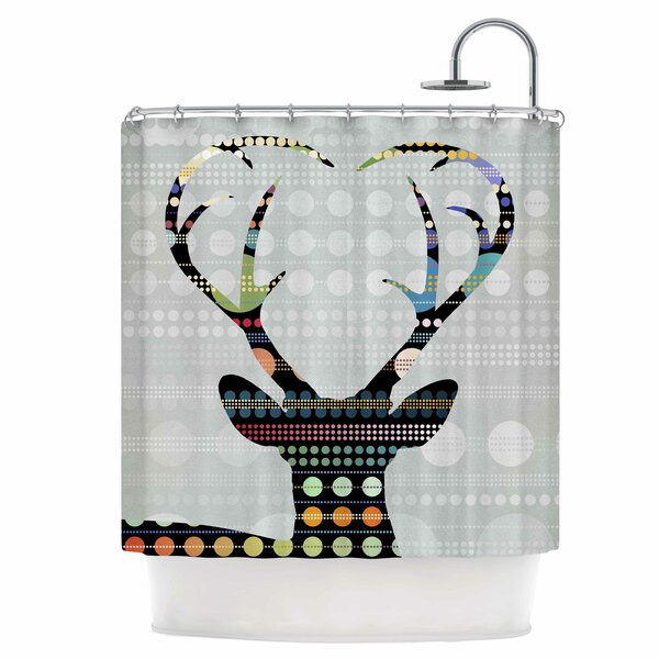 Deer Shower Curtain by East Urban Home