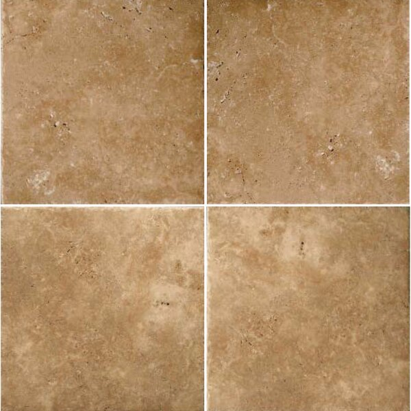 Natural Stone Banded 48 x 48 Travertine Field Tile in Umbria Bruno by Emser Tile