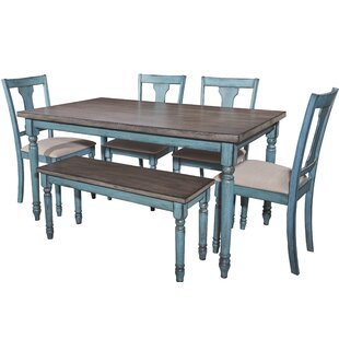 Incroyable Scarlet 6 Piece Dining Set