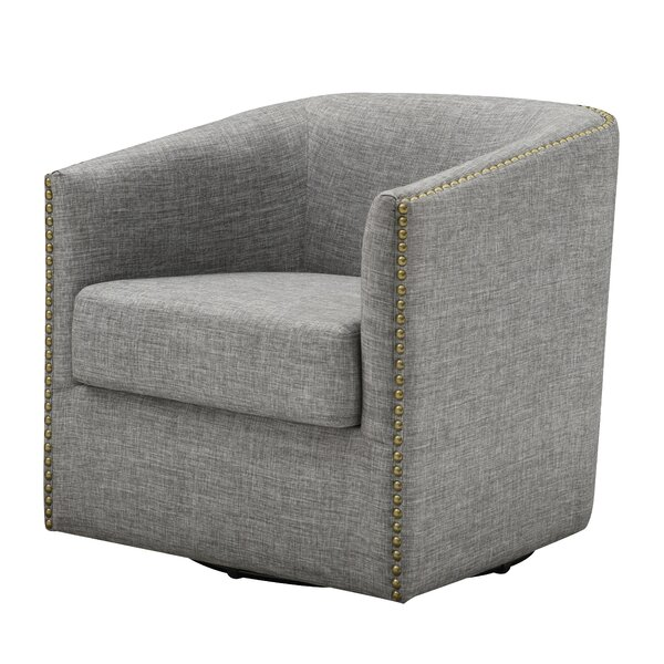 Denslowe Swivel Barrel Chair by Darby Home Co