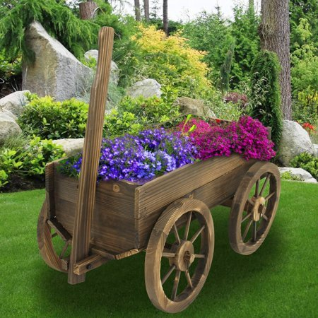 Marquis Wood Wheelbarrow Planter by Millwood Pines