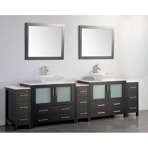 Karson 36 Double Bathroom Vanity Set with Mirror by Wade Logan