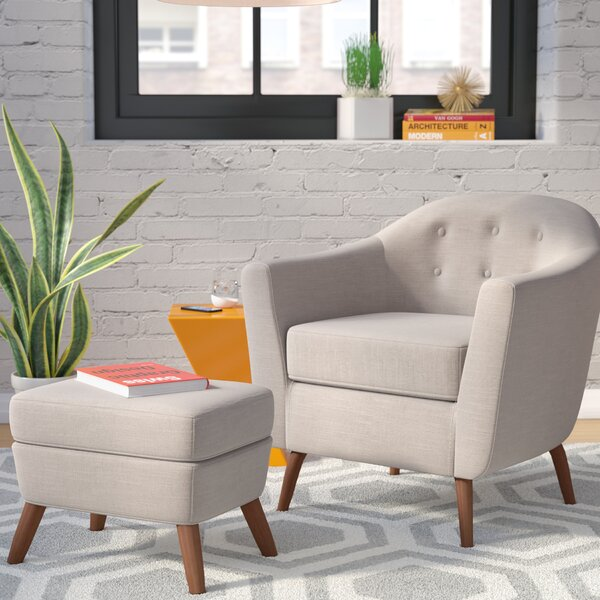 Henley Barrel Chair and Ottoman by Langley Street Langley Street™
