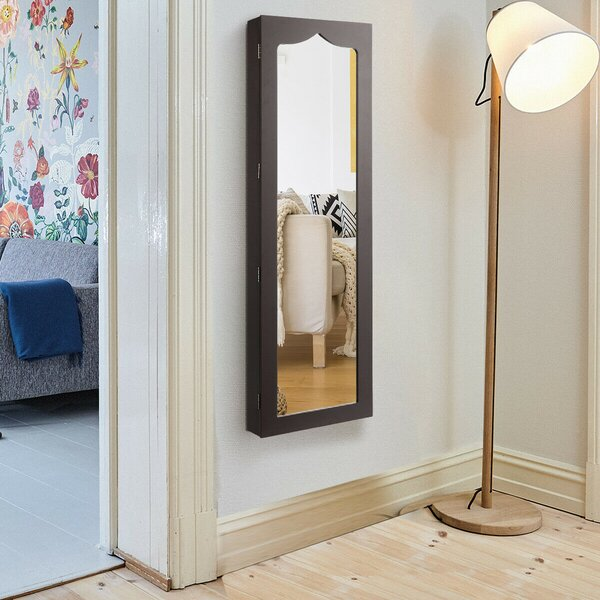 Cylburn Over The Door Jewelry Armoire with Mirror by Red Barrel Studio Red Barrel Studio