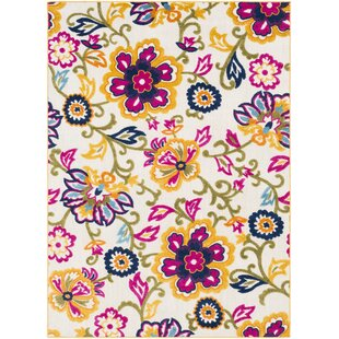 Look for Avonmore Bright Yellow/Cream Outdoor Area Rug By Ebern Designs