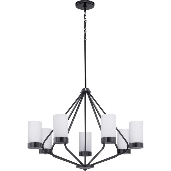 Aeroome 7 - Light Shaded Geometric Chandelier By Wrought Studio