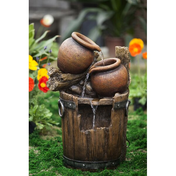Resin/Fiberglass  Pot and Urn Water Fountain by Jeco Inc.