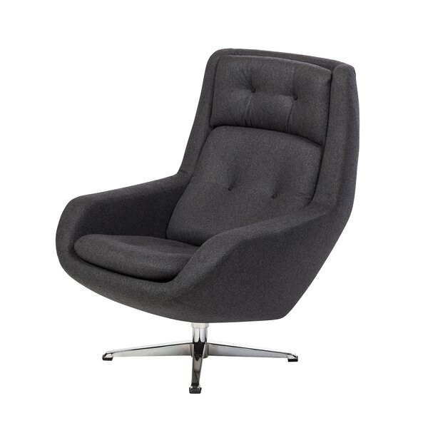 Commander Swivel Armchair by Design Tree Home