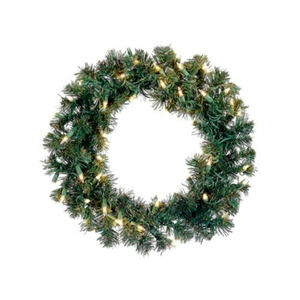 Pre-Lit 18 Deluxe Lighted Pine Artificial Christmas Wreath by The Holiday Aisle