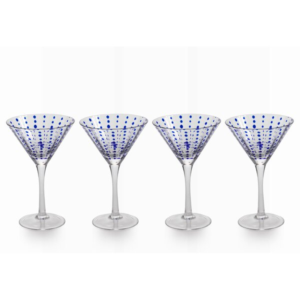 Sarmiento 8.4 oz. Cocktail Glass Set (Set of 4) by Brayden Studio