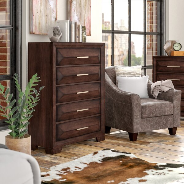 Pennington 5 Drawers Chest by Union Rustic