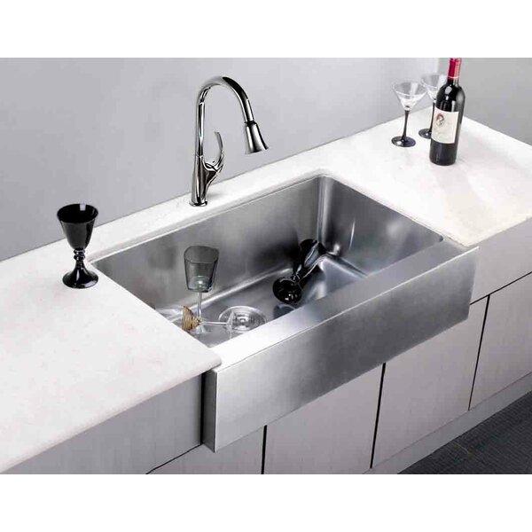 33 L x 20.75 W Under Mount Single Bowl Kitchen Sink by Dawn USA
