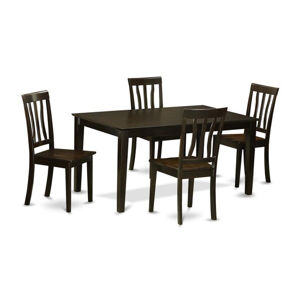 Find Smyrna 5 Piece Solid Wood Dining Set By Charlton Home Spacial Price