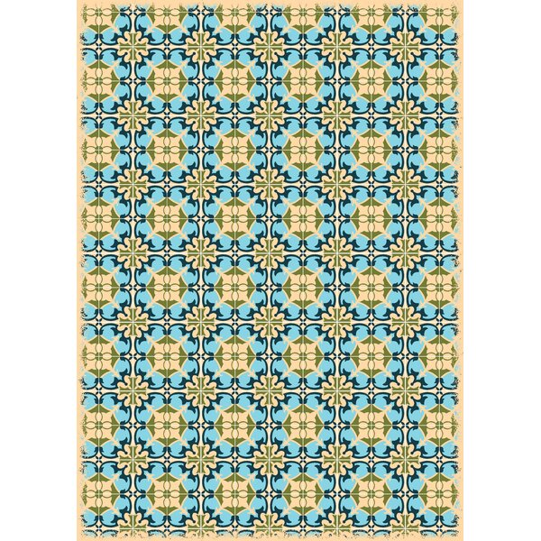 Crase European Design Blue/Yellow Indoor/Outdoor Area Rug by Bungalow Rose