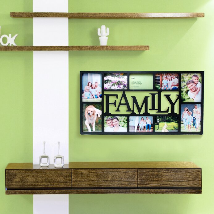 Wall Picture Frame Set nexxt design family 10 piece picture frame set & reviews | wayfair