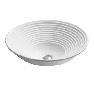 Turnings Ceramic Circular Vessel Bathroom Sink Kohler