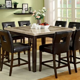 Price comparison Riter Marble Top Counter Height Dining Table By Latitude Run