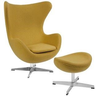 Brennen Swivel Lounge Chair and Ottoman