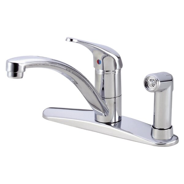 Melrose Single Handle Kitchen Deck Mounted Faucet with Side Spray by Danze®