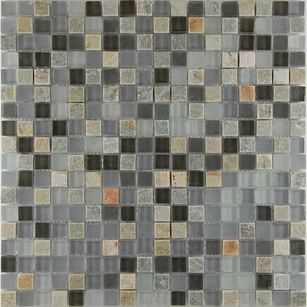 0.63 x 0.63 Natural Stone Mosaic Tile in Gray by Travis Tile Sales