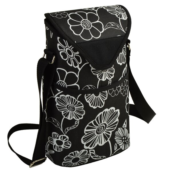 Night Bloom Wine/Water Bottle Tote Bag by Picnic at Ascot