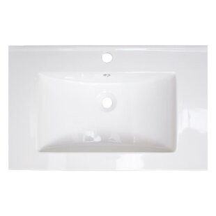 Flair Ceramic Rectangle Drop-in Bathroom Sink With Overflow By American Imaginations