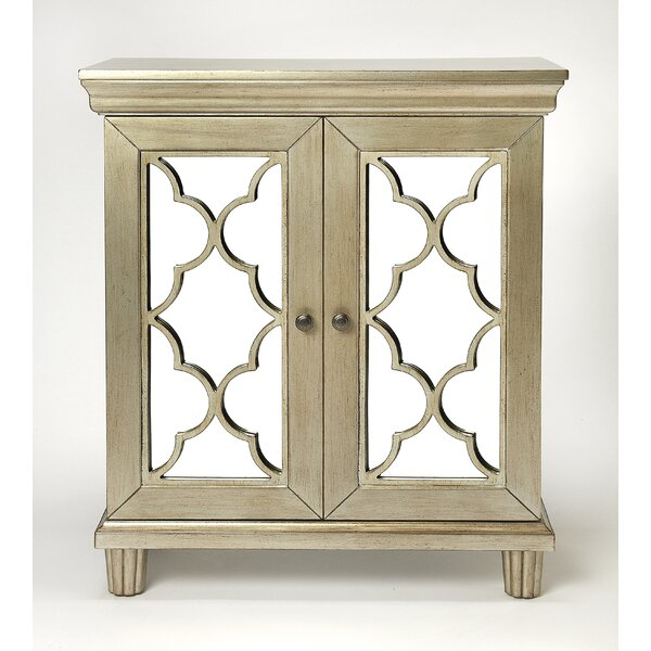 Klassen 2 Door Mirrored  Accent Cabinet By House Of Hampton