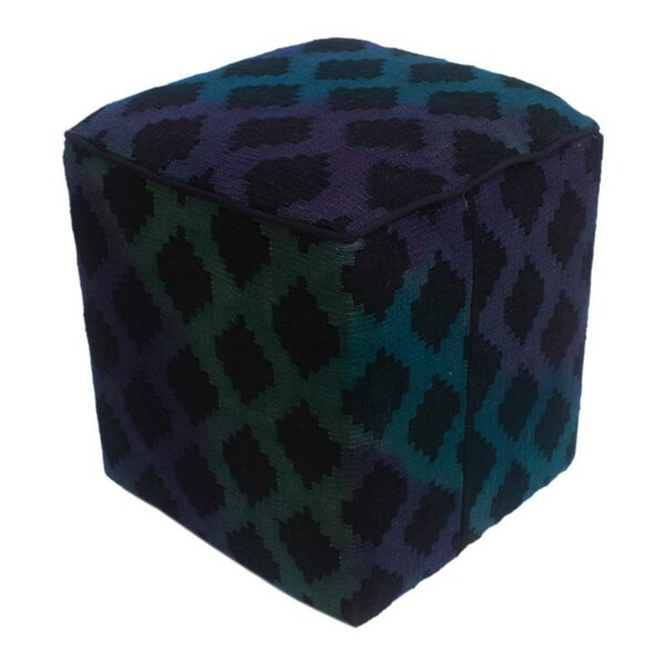 Rhinehart Kilim Cube Ottoman by World Menagerie