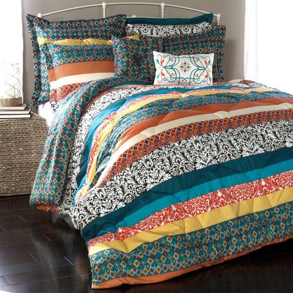 Bridgelands 7 Piece Reversible Comforter Set by World Menagerie